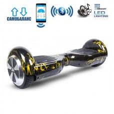 """Гироборд Smart Balance Wheel U6 Premium +Autobalance +Арр 6.5"""" Желтая молния"""