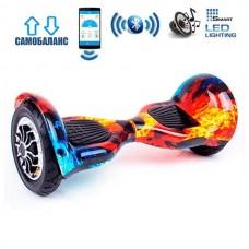 "Гироборд Smart Balance Wheel U10 Premium +Autobalance +Арр 10"" Лед и пламя"
