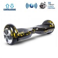 """Гироборд Smart Balance Wheel U6 Pro +Autobalance 6.5"""" Желтая молния"""