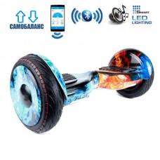 """Гироборд Smart Balance Wheel U20 Premium +Autobalance +Арр 10.5"""" Огонь и Лед"""