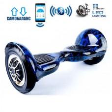 "Гироборд Smart Balance Wheel U10 Premium +Autobalance +Арр 10"" Синее пламя"