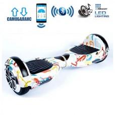 "Гироборд Smart Balance Wheel U6 Premium +Autobalance +Арр 6.5"" Граффити"