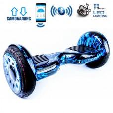 "Гироборд Smart Balance Wheel U20 Premium +Autobalance +Арр 10.5"" Синее пламя"