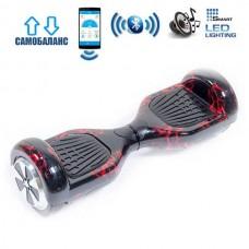 "Гироборд Smart Balance Wheel U6 Premium +Autobalance +Арр 6.5"" Красная молния"