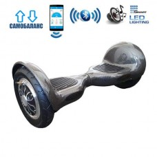 """Гироборд Smart Balance Wheel U10 Premium +Autobalance +Арр 10"""" Черный карбон"""