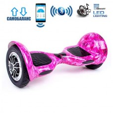 "Гироборд Smart Balance Wheel U10 Premium +Autobalance +Арр 10"" Розовый космос"