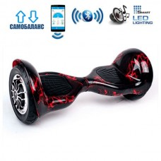 "Гироборд Smart Balance Wheel U10 Premium +Autobalance +Арр 10"" Красная молния"