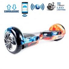 "Гироборд Smart Balance Wheel U6 Premium +Autobalance +Арр 6.5"" Лед и Пламя"