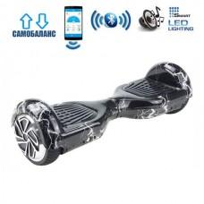 "Гироборд Smart Balance Wheel U6 Premium +Autobalance +Арр 6.5"" Белая молния"