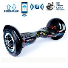 "Гироборд Smart Balance Wheel U10 Premium +Autobalance +Арр 10"" Цветные молнии"