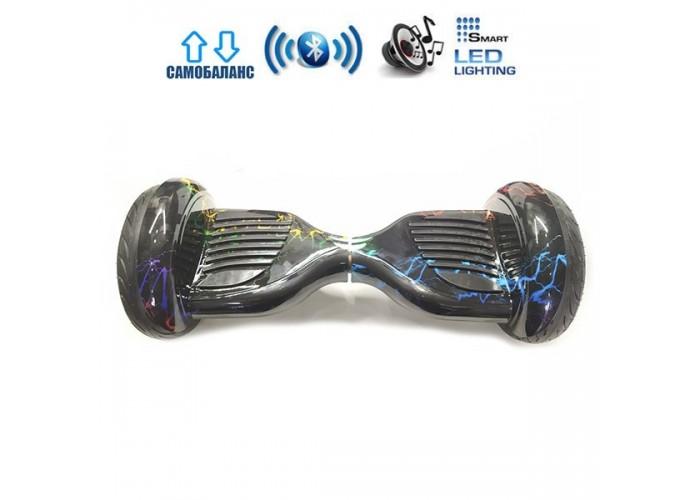 """Гироборд Elite Lux Premium U20 +Autobalance 10.5"""" Цветные молнии"""