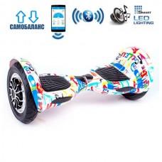 "Гироборд Smart Balance Wheel U10 Premium +Autobalance +Арр 10"" Граффити"